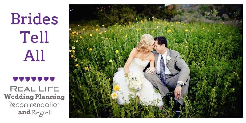 bride and groom in flower field