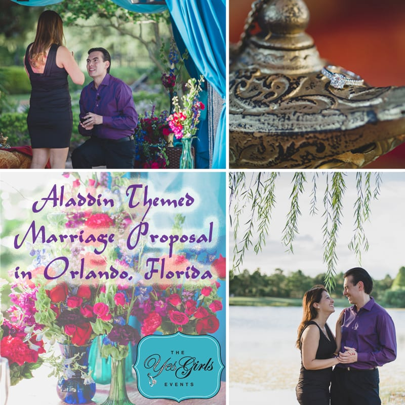 Arabian Nights Wedding Proposal in Orlando