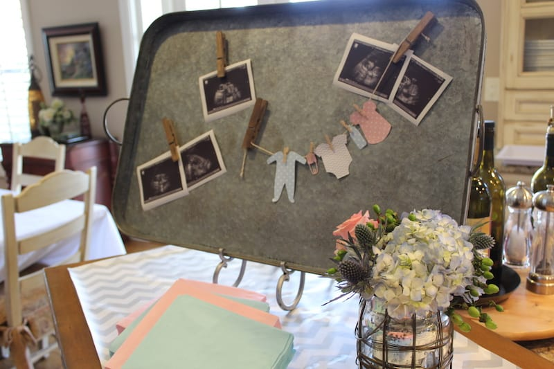 the yes girls  baby gender reveal party