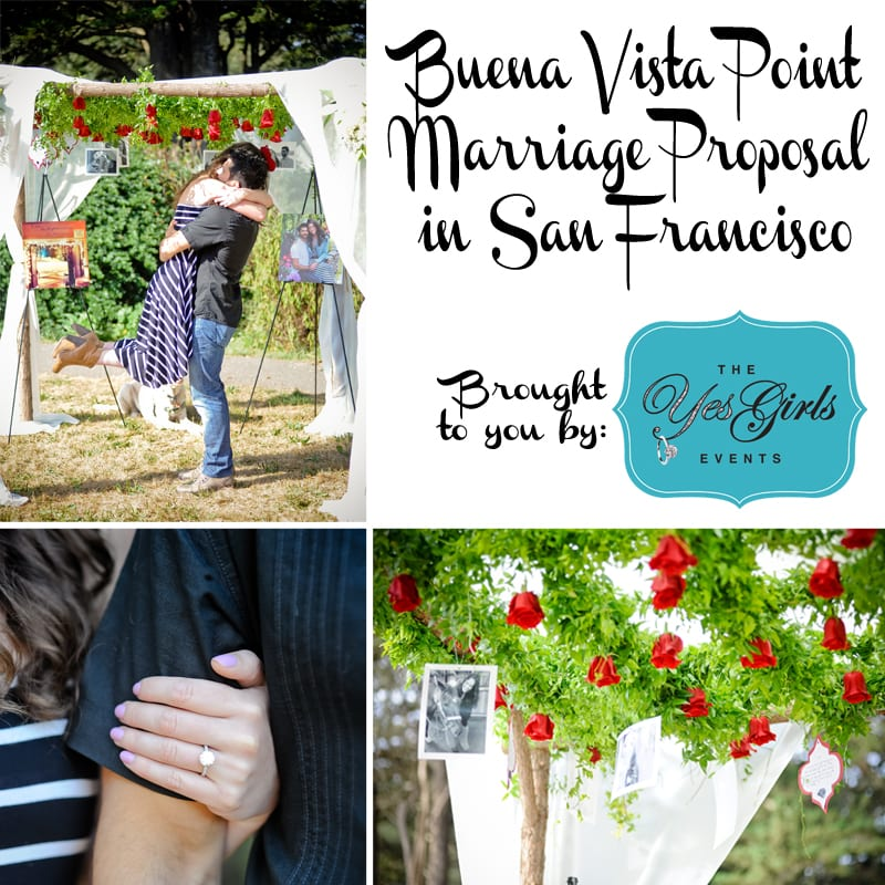 Bay Area red and white wedding proposal