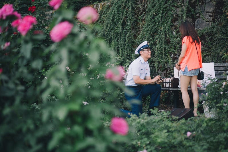 portland rose garden marriage proposal by the yes girls17