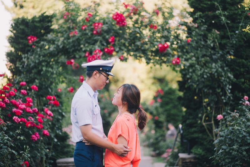 portland rose garden marriage proposal by the yes girls 25