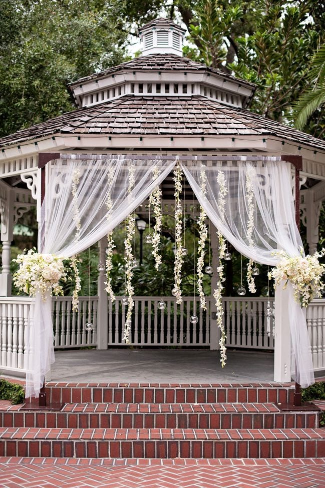 Outdoor weddings with a gazebo the yes girls for French style gazebo