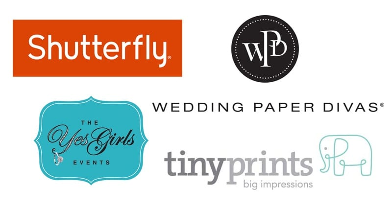 Shutterfly, wedding paper divas, tiny prints, the yes girls events