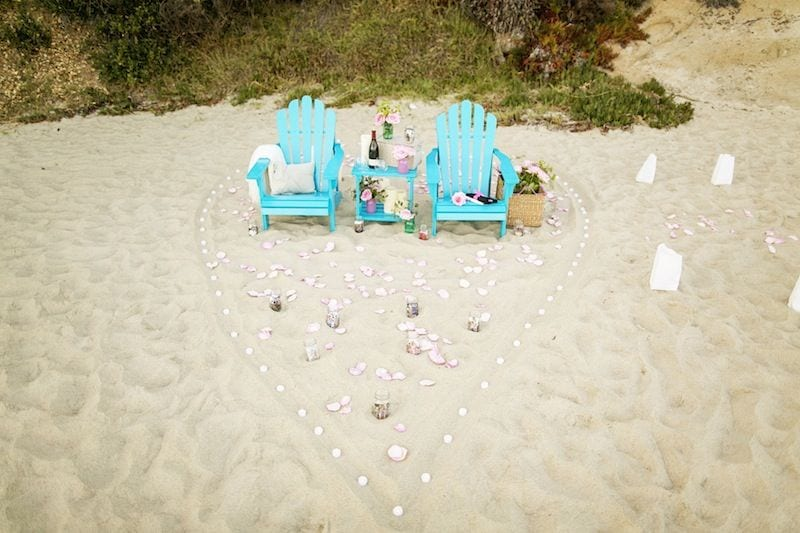 Unique Personalized Proposal On The Beach