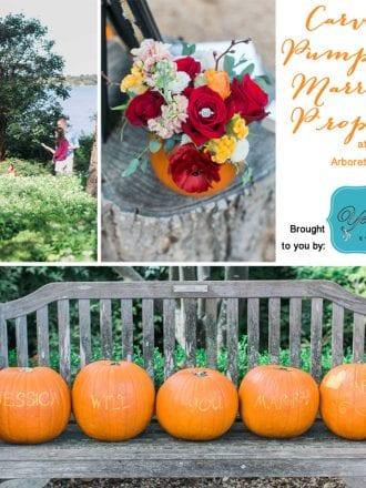 Autumn Wedding proposal at Dallas Arboretum Gardens Fall Festival