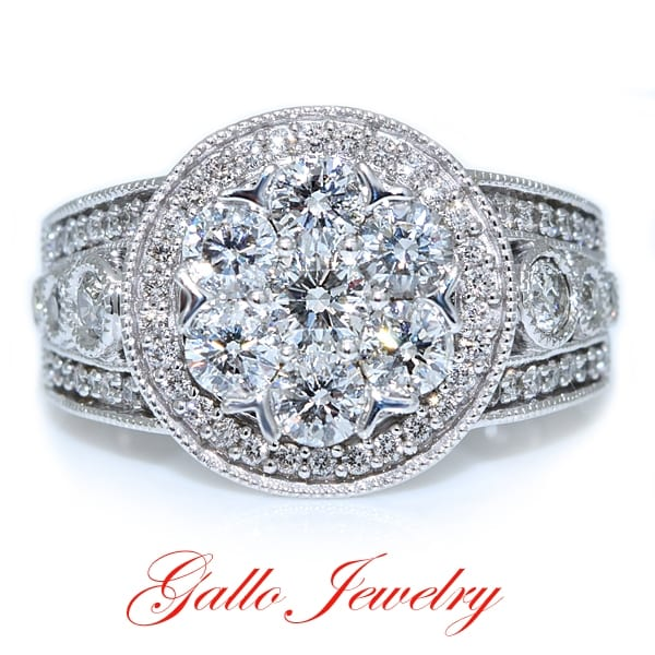 Gallo Jewelry Cluster Diamond Ring
