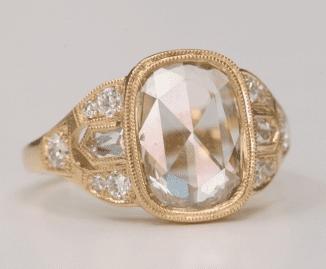 Single Stone Rose Cut Ring