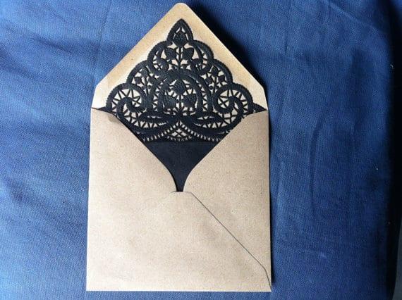 wedding lined envelopes