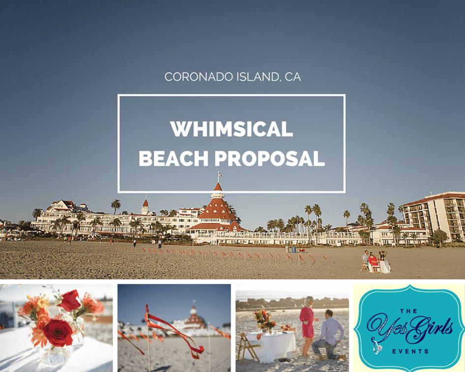 The Yes Girls Coronado Island San Diego Beach Proposal