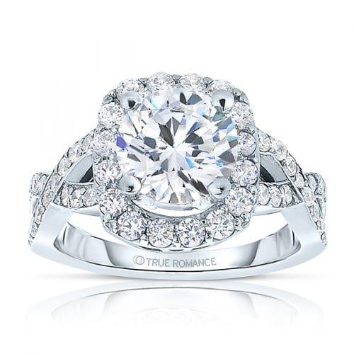 True Romance Round Cut Halo Infintity Ring