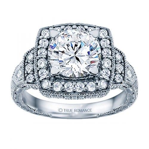 True Romance Round Cut Vintage Ring