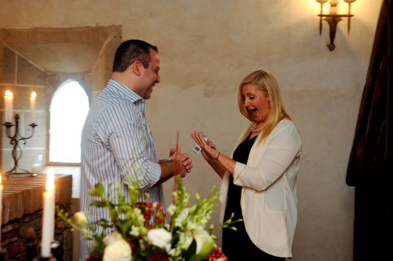 Winter Winery Marriage Proposal