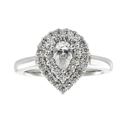Littman Jewelers Pear Shape Engagement Ring