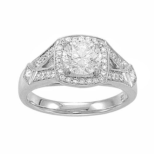 Littman Jewelers Round Engagement Ring