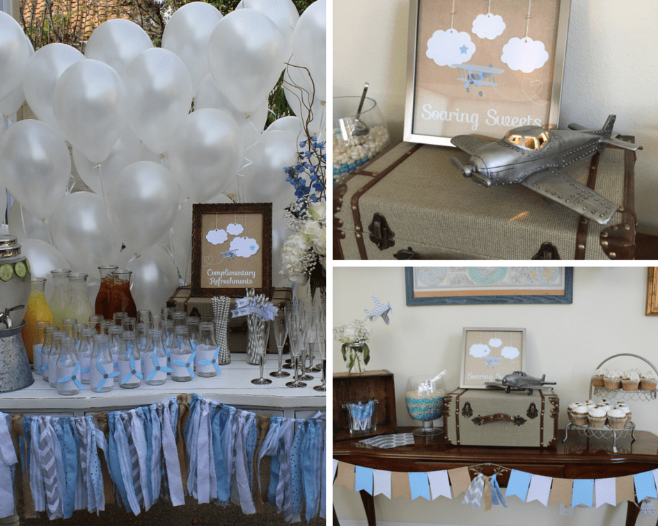Adventure and Airplanes Baby Shower | The Yes Girls