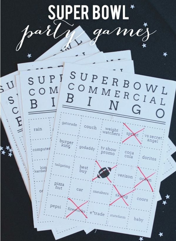 superbowl bingo