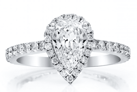 Alberts Pear Engagement Ring