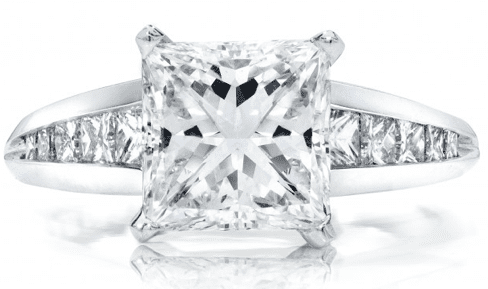 46ct D SI2 Princess Cut Diamond Set In A Handmade Platinum Setting