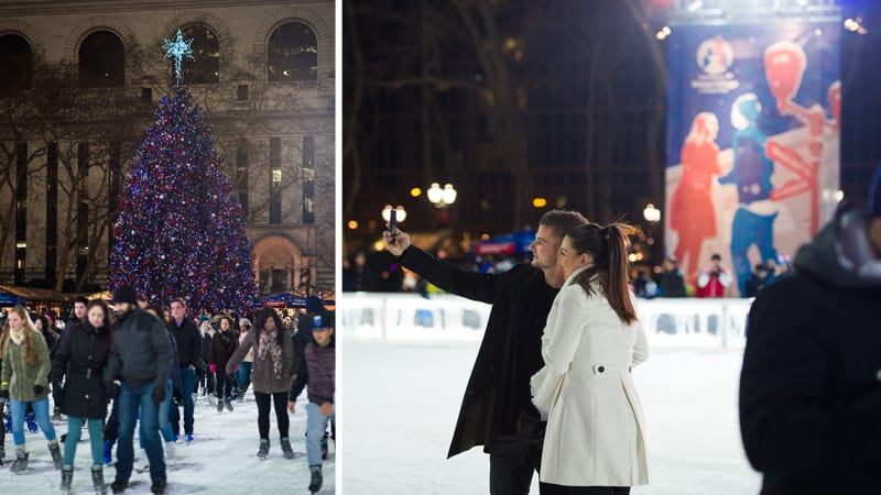 New York City Marriage proposal at Bryant Park