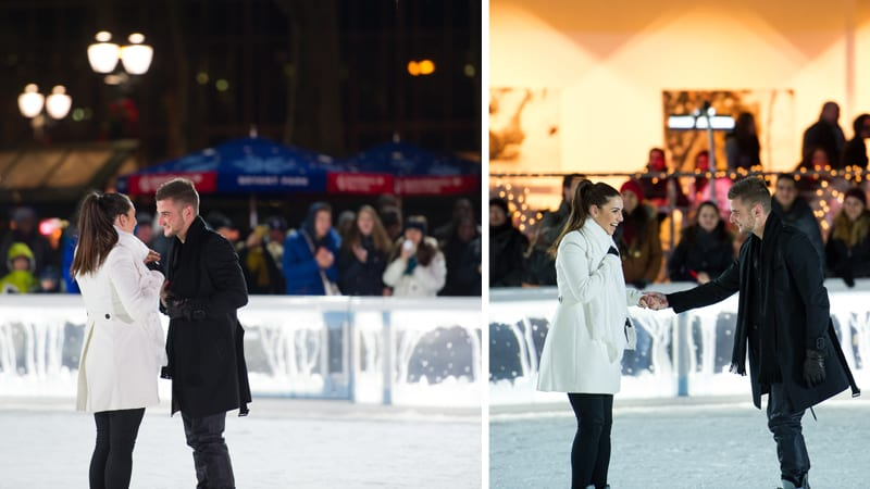 ice skate marriage proposal