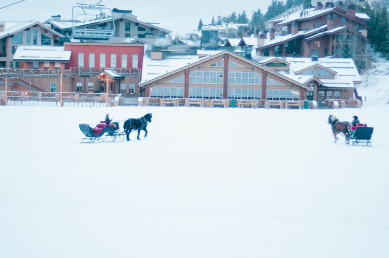 Winter Deer Valley Utah Wedding Proposal