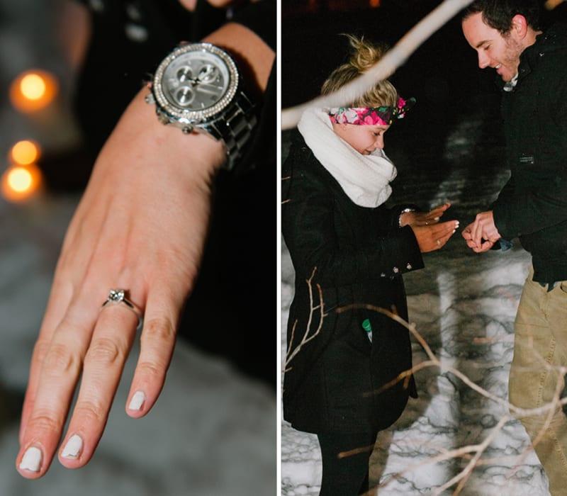 Winter Deer Valley Utah Wedding Proposal