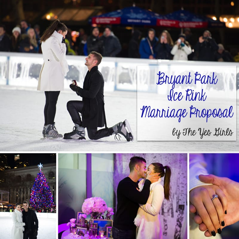 ice skating wedding proposal
