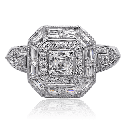 Christopher Designs Asscher Ring