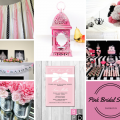 SILVER BLACK AND PINK BRIDAL SHOWER INSPIRATION