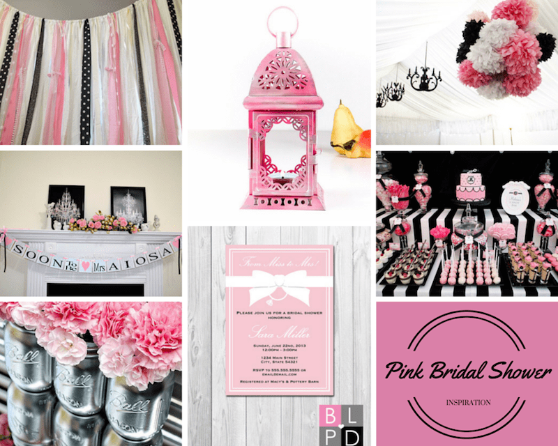 SILVER BLACK AND PINK BRIDAL SHOWER INSPIRATION