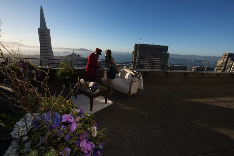 best marriage proposal rooftop San Francisco