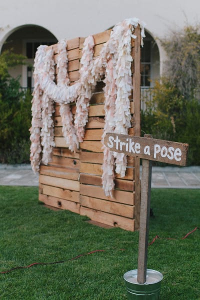 DIY backdrop with crates and palettes
