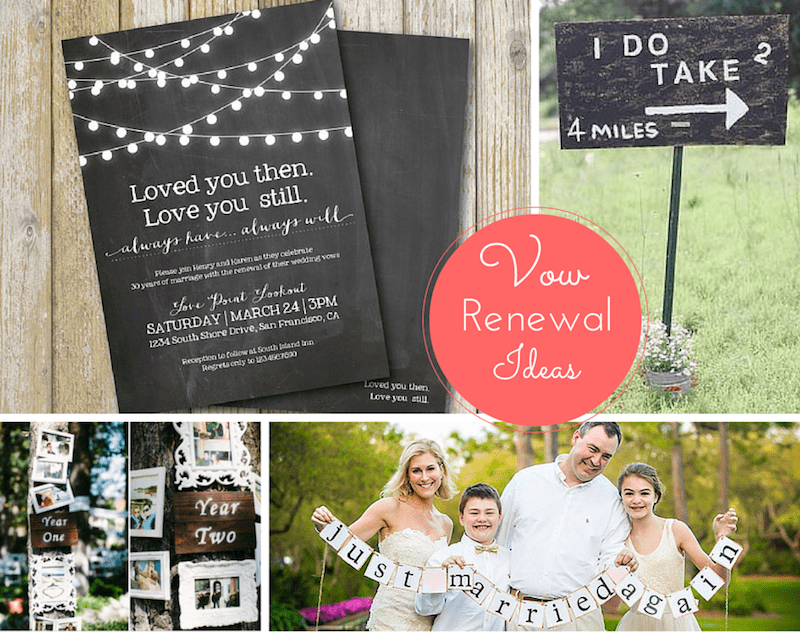 ideas for personalizing your vow renewal