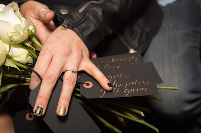 black and gold calligraphy love notes
