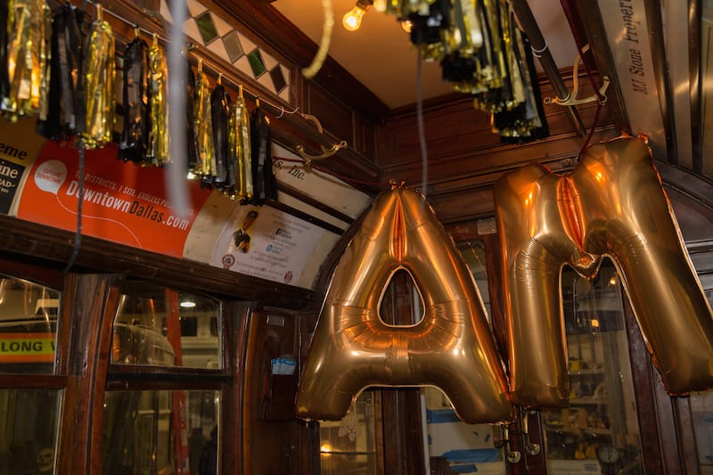 black and gold balloons wedding proposal