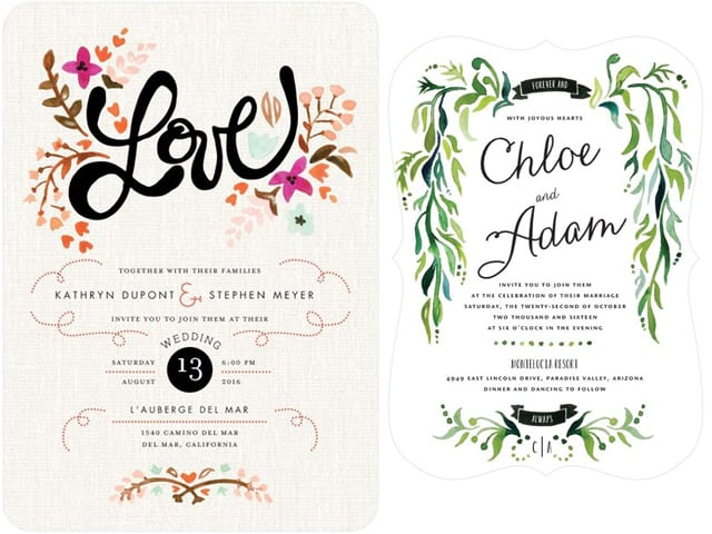 Inspiration for Spring 2015 Invitations