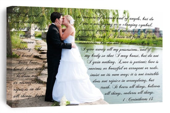 creative displays for wedding vows