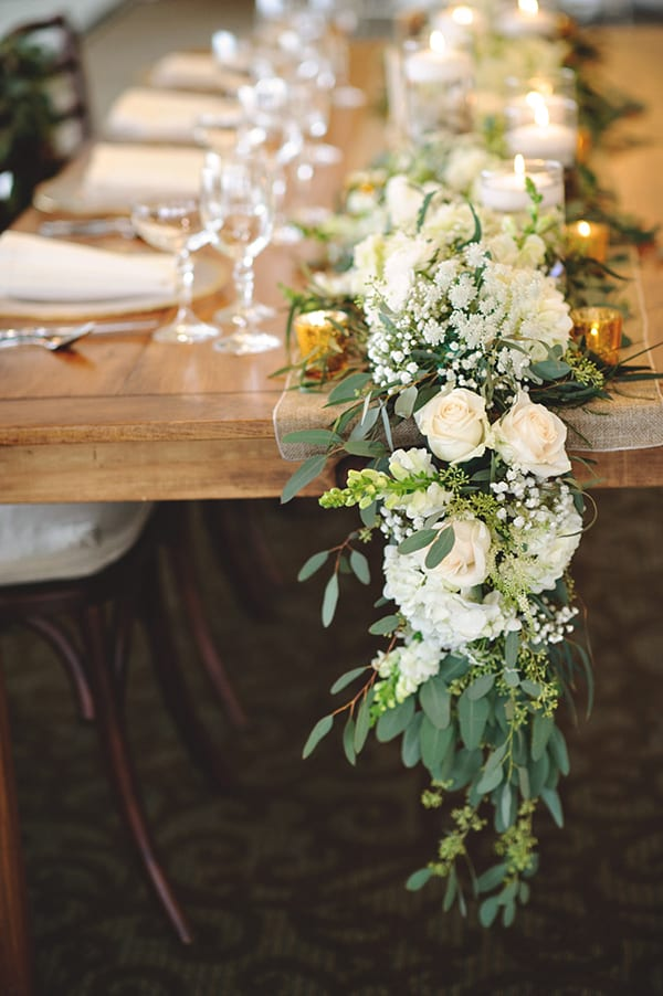 Floral Table Runner Centerpieces