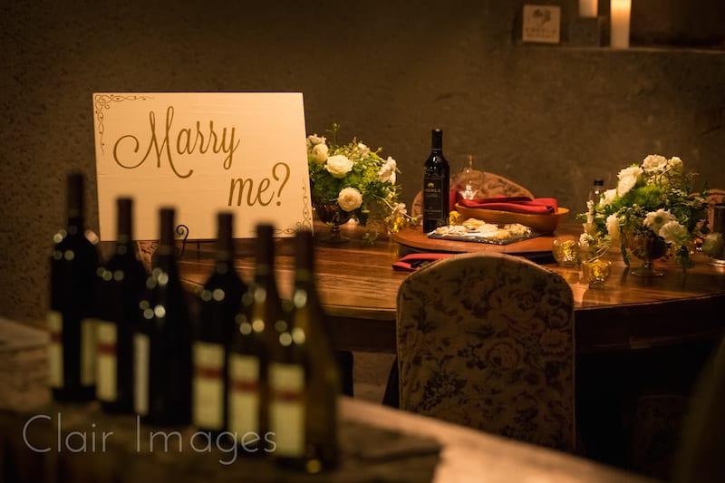 alice in wonderland vineyards wedding proposal