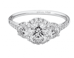 Hamilton 3 Stone Engagement Ring