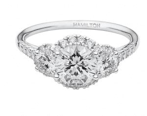 Hamilton 3 Stone Engagement Ring