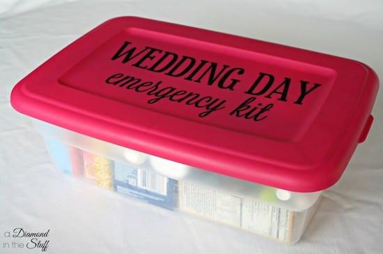 emergency wedding day kit