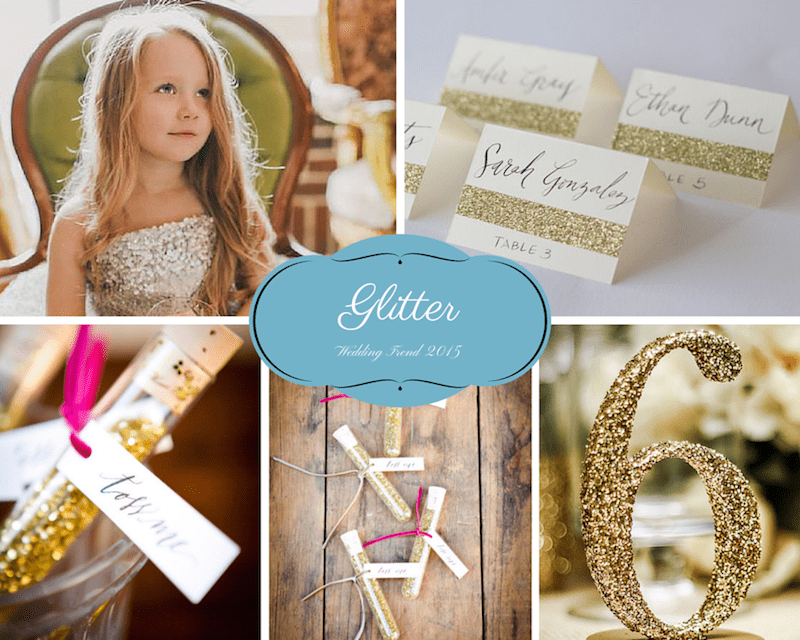 How to use glitter to make your wedding