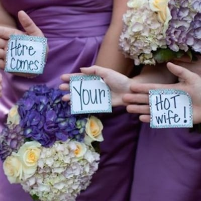 note ideas for your bride or groom