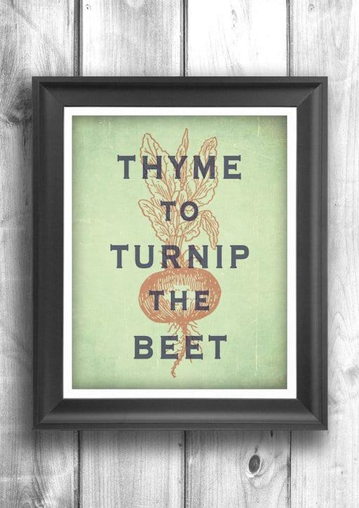 thyme to turnip the beet