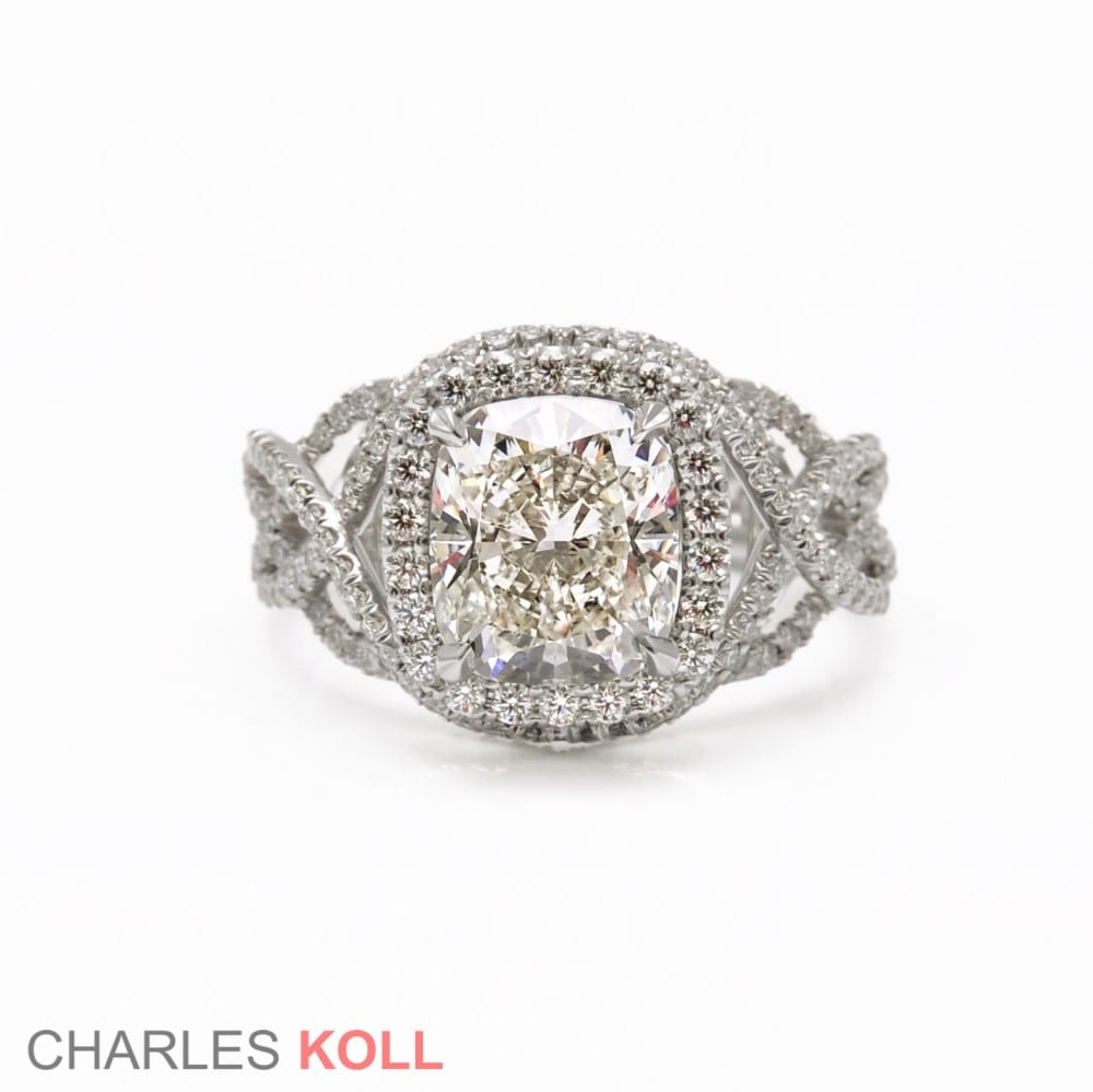 Charles Koll Engagement Ring Intricate Crossover