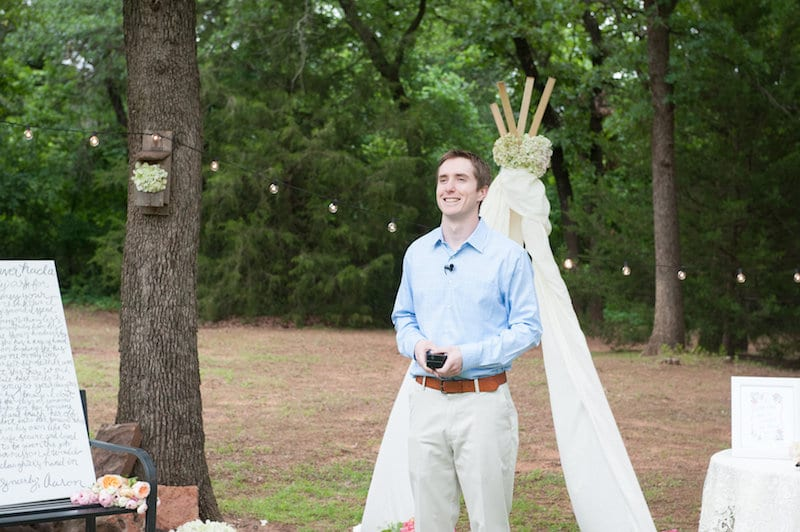 man waiting to propose
