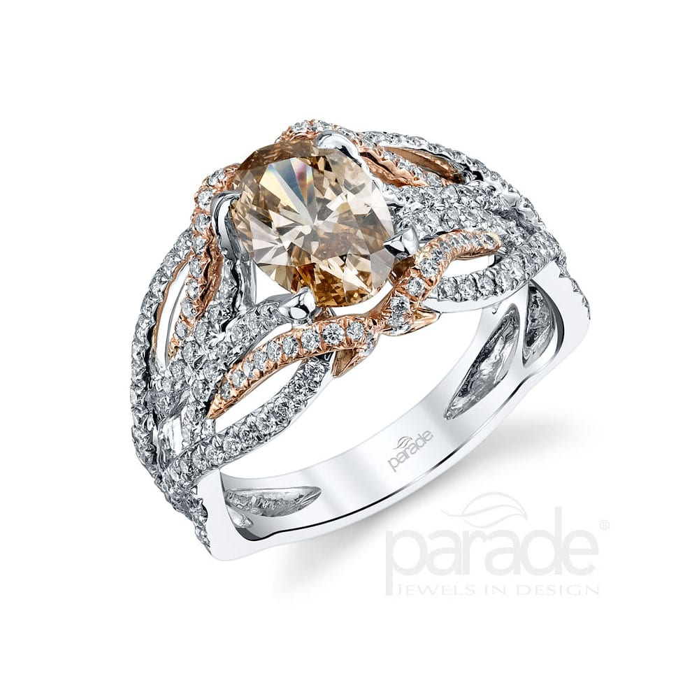 Parade Designs Engagement Ring 3 A 130 Carat Cognac Diamond