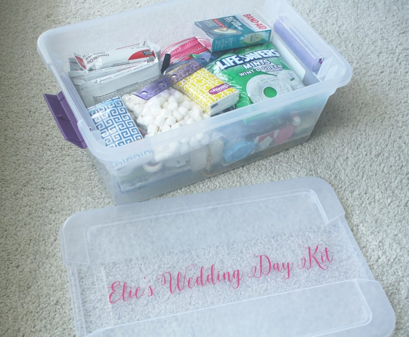 what to bring to your own wedding